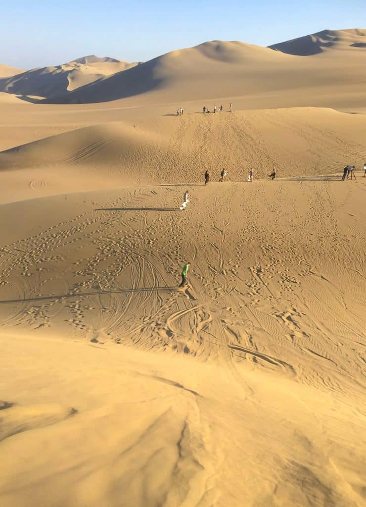 Sandboarding activities peru