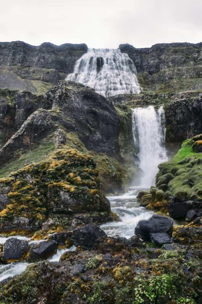 dynjadi falls in iceland