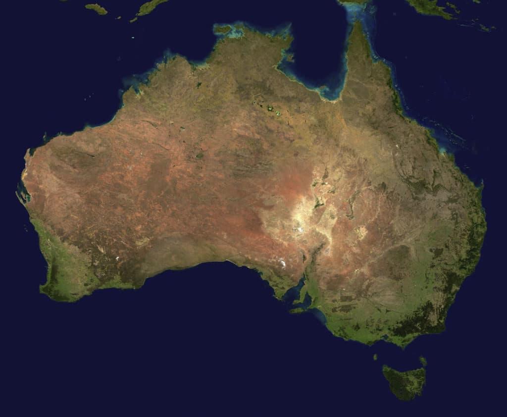 Australia land size