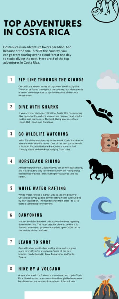 best activities to do while backpacking costa rica