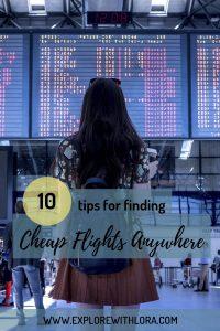 find cheap flights pin