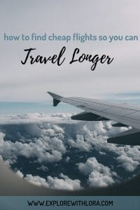 Don't let the cost of flights eat your travel budget. Find out in this post 10 tips to help you find cheap flights, so you travel more, and have more money for experiences while you're there! #CheapFlights #TravelTips #TravelHacking #Flights