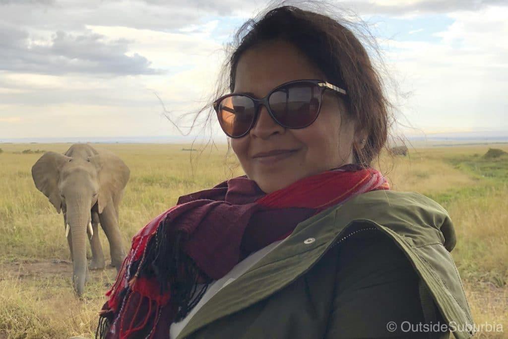 Elephant Encounter in Kenya