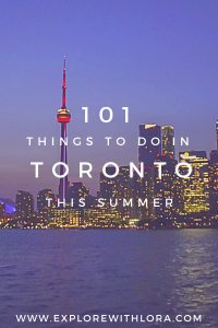Summer's finally here! There's no better time to visit Toronto then in the summer. Check out this complete guide to Toronto in the summer, featuring 101 fun things to do in Toronto this summer 2019. Create your Toronto summer Bucket List now! #Toronto #Summer #Canada #BucketList #Free
