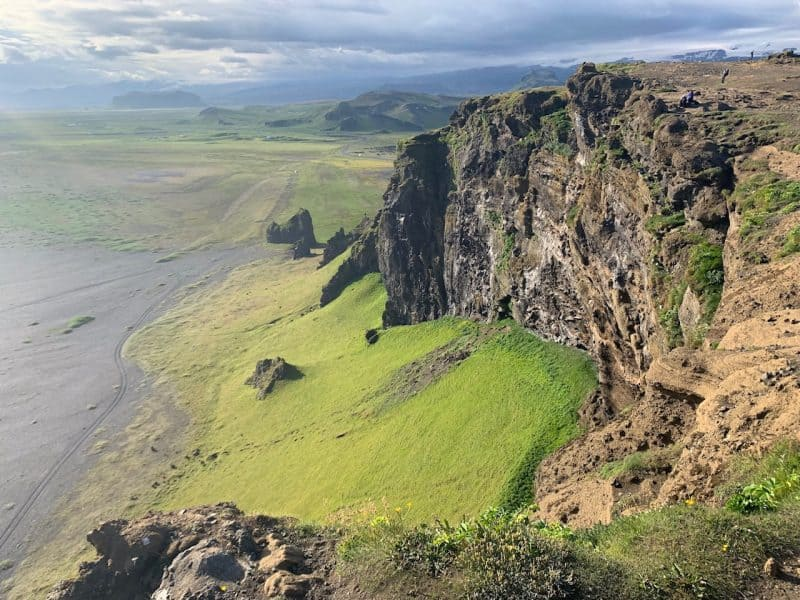 Dyrholaey, a puffin watching spot in Iceland