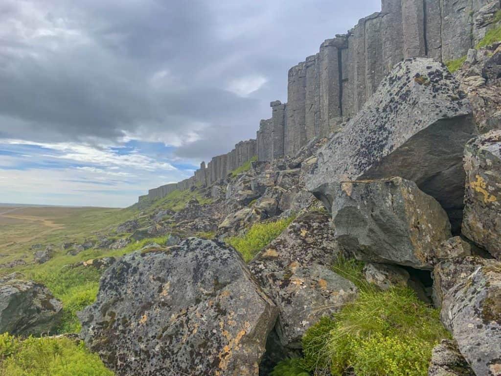 Gerduberg Cliffs in iceland