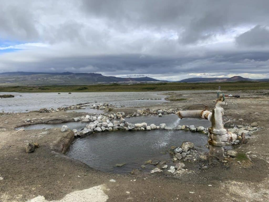Hot pools in Iceland on the Snaefellsnes Peninsula