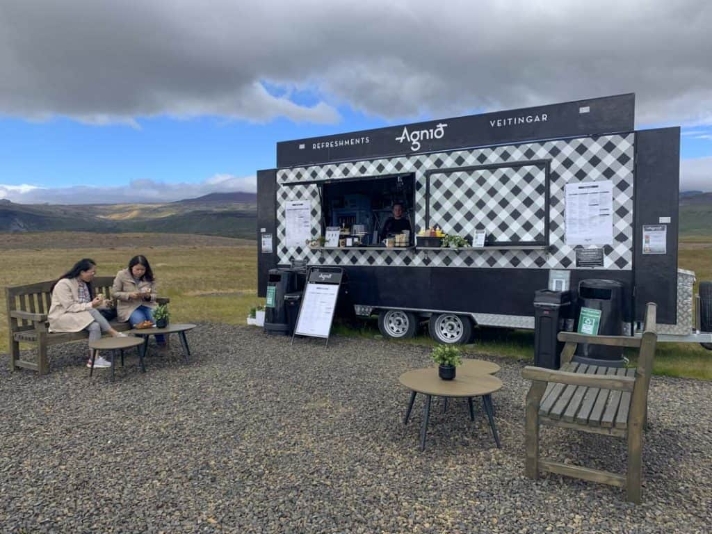 burger stand in Iceland