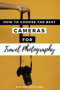Find out what's in my travel photography kit and why I love these products. This post will help you pick out the perfect travel camera so you can take incredible photos while you travel. #TravelPhotography #Photography #TravelCameras #Cameras #Mirrorless #Drones #Compact #TravelGear