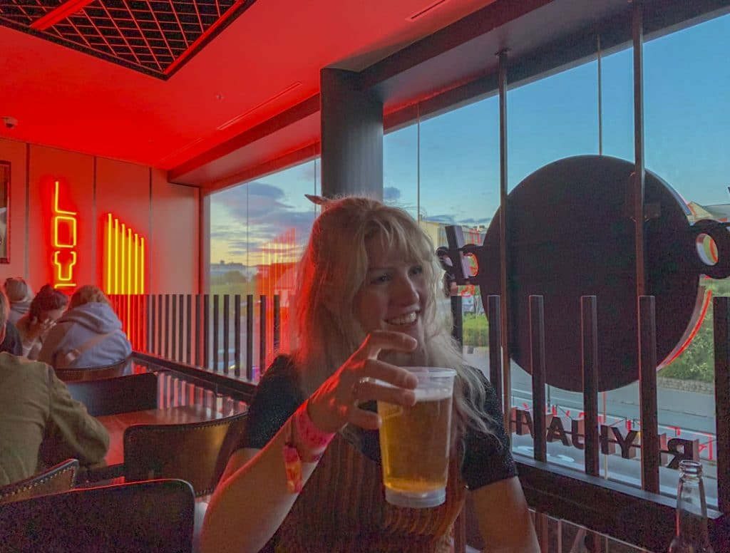 Drinking beers in Reykjavik