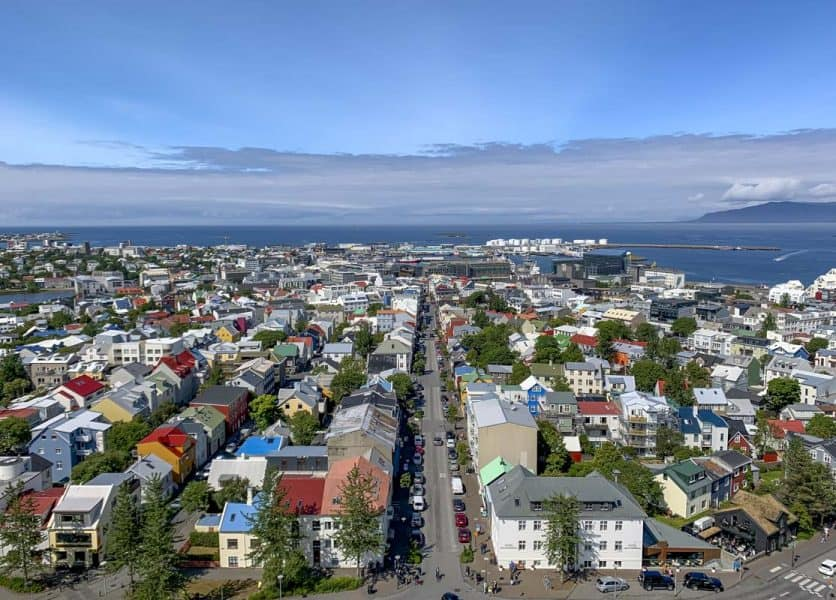 Reykjavik Iceland in June