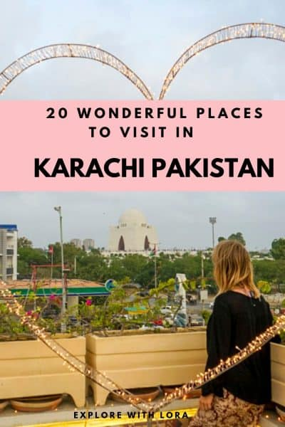 Best places to visit in Karachi Pinterest Pin