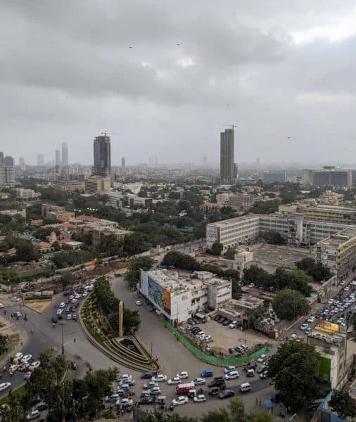 View from Avari Hotel in Karachi