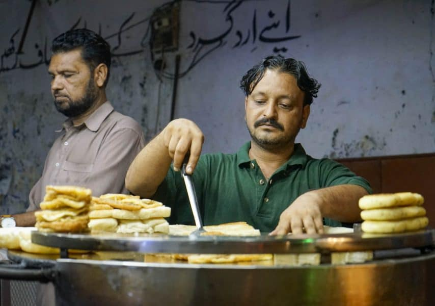 trying street food in karachi