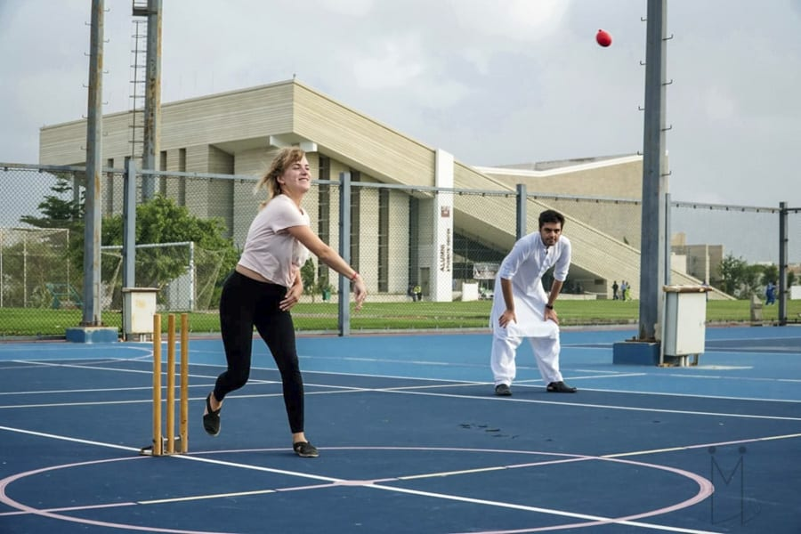playing cricket in Karachi