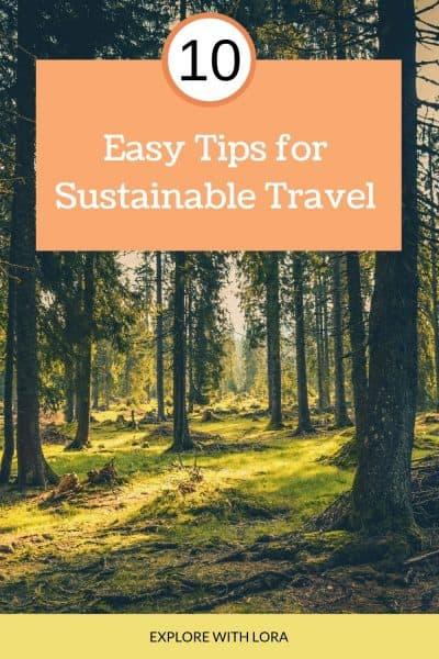 sustainable travel tips pinterest pin