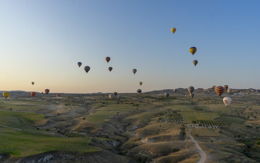 hot air balloon flight is one of the most popular cappadocia tours