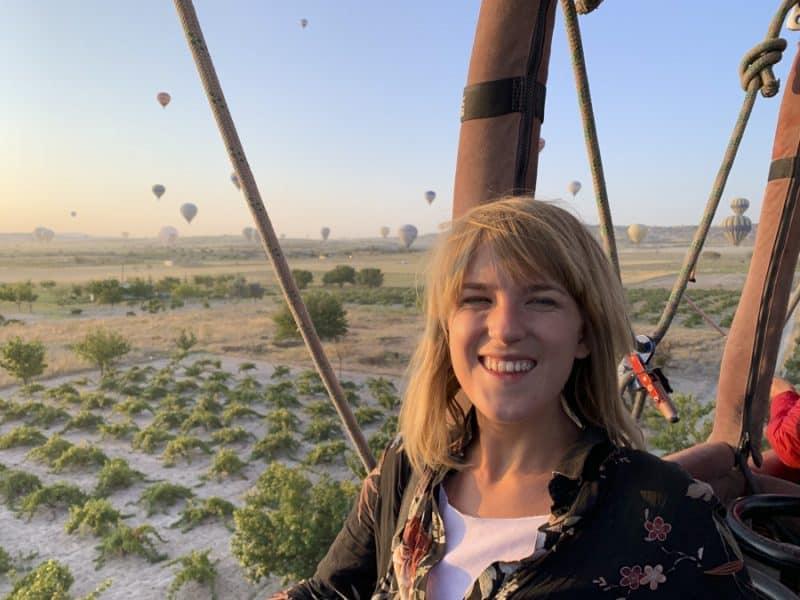 lora in a hot air balloon