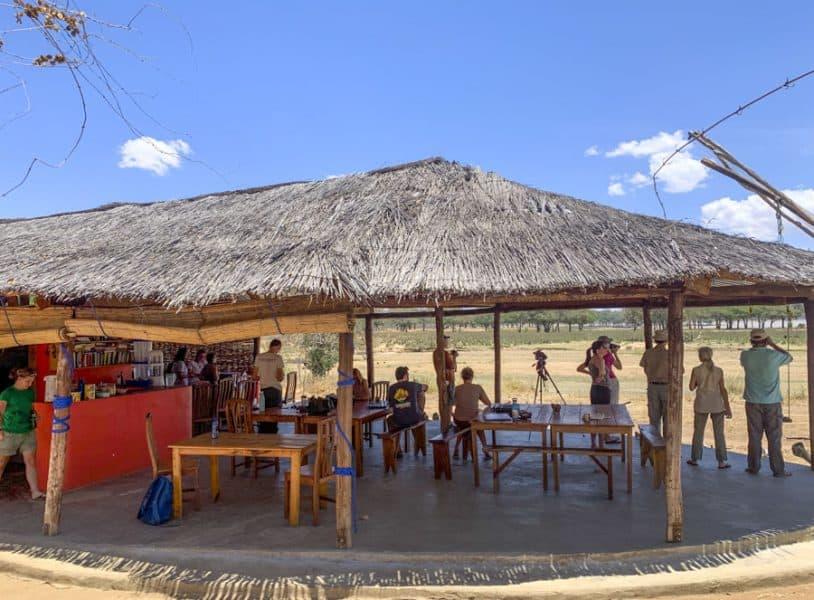 base camp at vwaza marsh game reserve