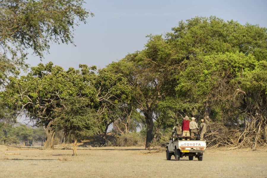 driving in a truck with biosphere expeditions