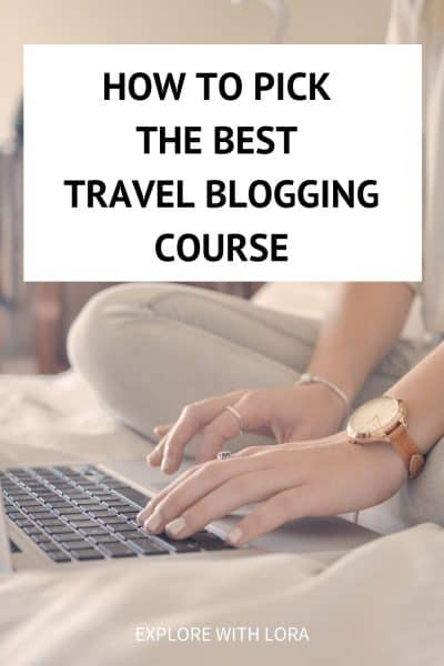 pinterest pin best travel blogging course