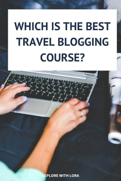 pinterest pin travel blogging course
