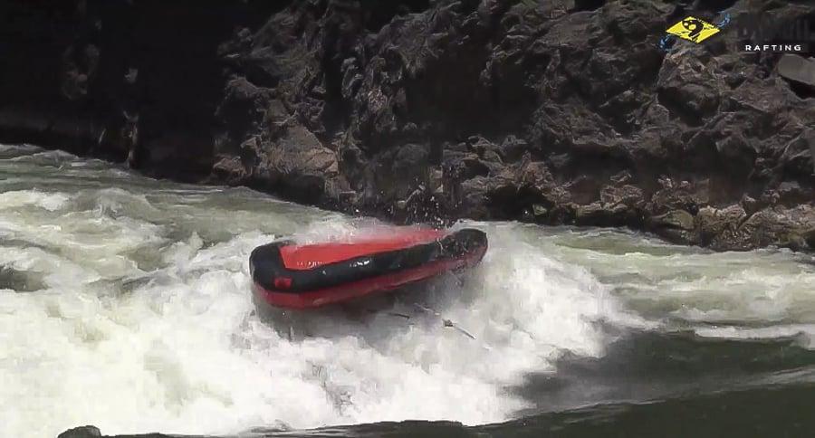 white-water rafting on the zambezi river