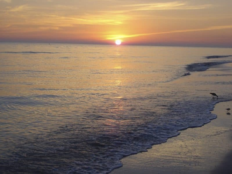 sunset in florida, one of the best destinations to travel in february 2020