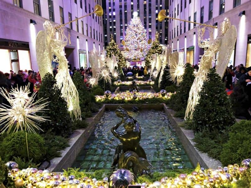 NYC is one of the best places to travel in November for all the Christmas lights