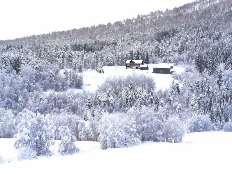 wintertime in january in norway