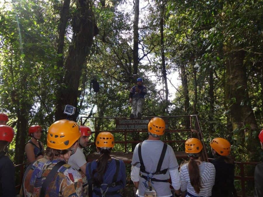 ziplining is one of the best things to do in monteverde