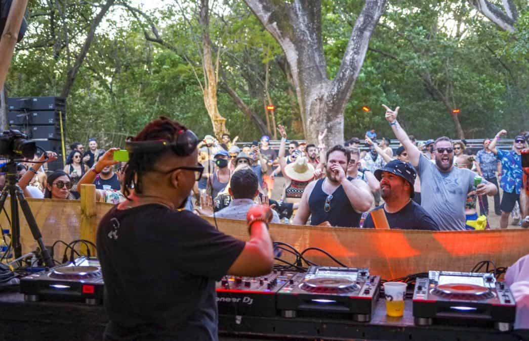 Felix Da Housecat playing at the Canopy stage BPM Festival Costa Rica