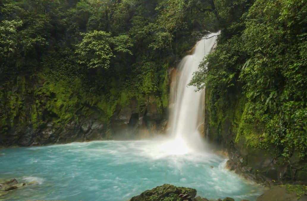 Rio Celeste waterfall in la fortuna