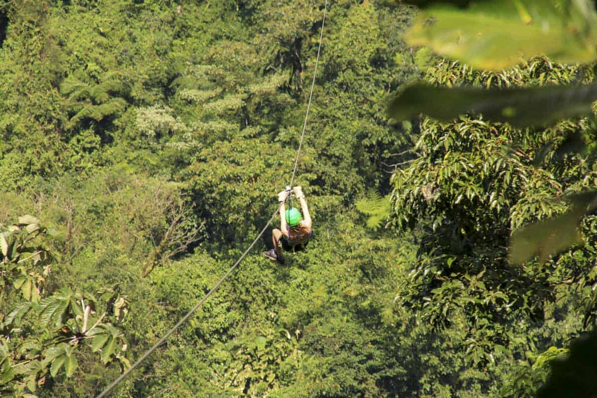 Zip-lining at SkyTrek Adventure Park