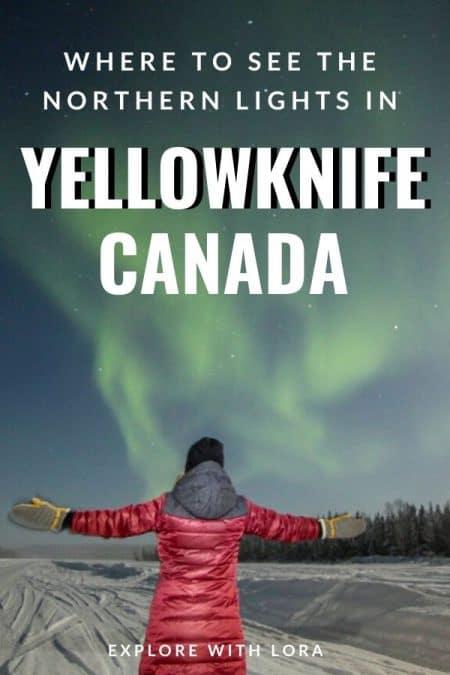 pinterest pin yellowknife aurora tour