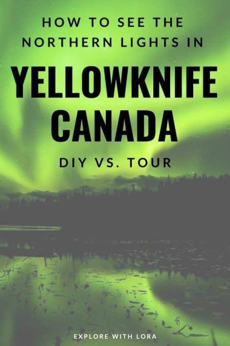 pinterest pin yellowknife canada northern lights