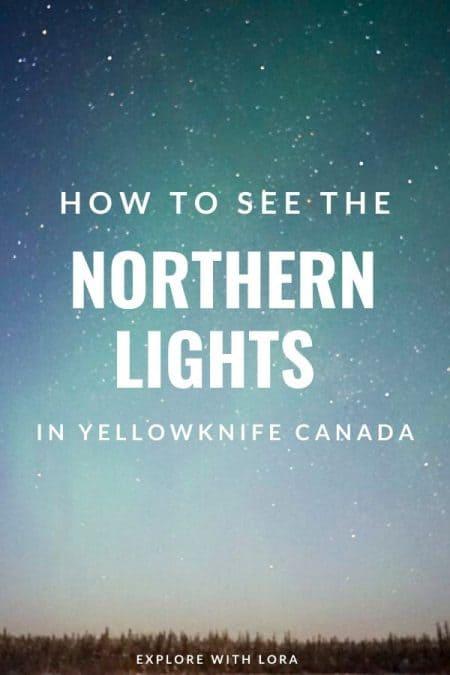 pinterest pin yellowknife northern lights tour