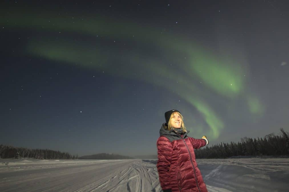 Northern Lights in February in Yellowknife
