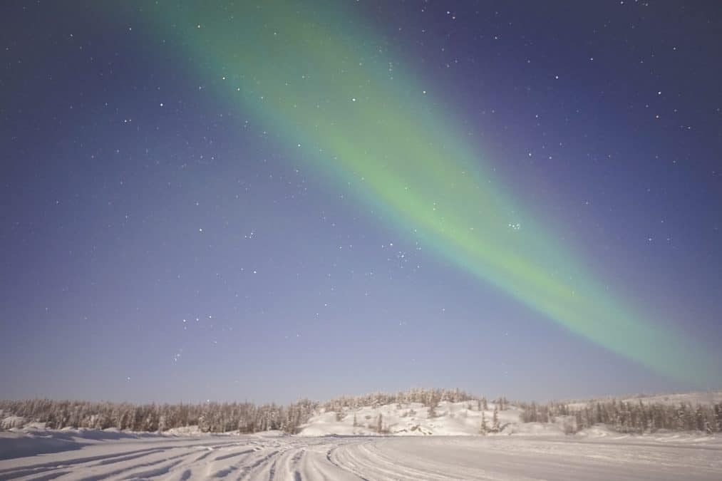 Viewing the northern lights on an aurora hunting tour