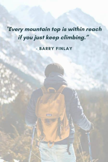 mountain hiking quotes