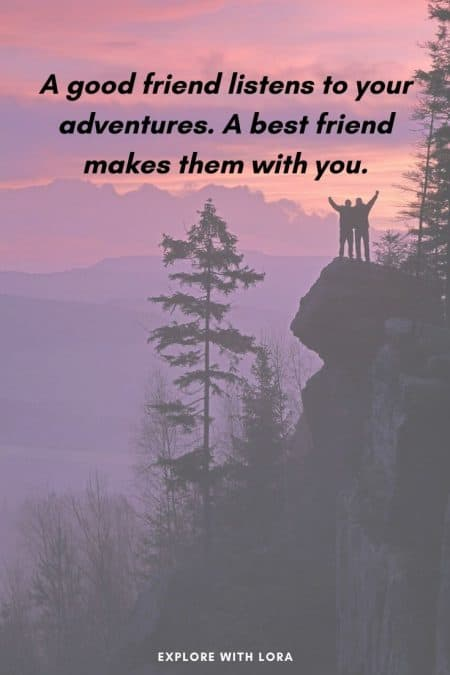 quote about hiking with friends