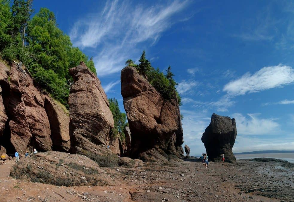 hopewell rocks bay of fundy new brunswick canada east coast road trip