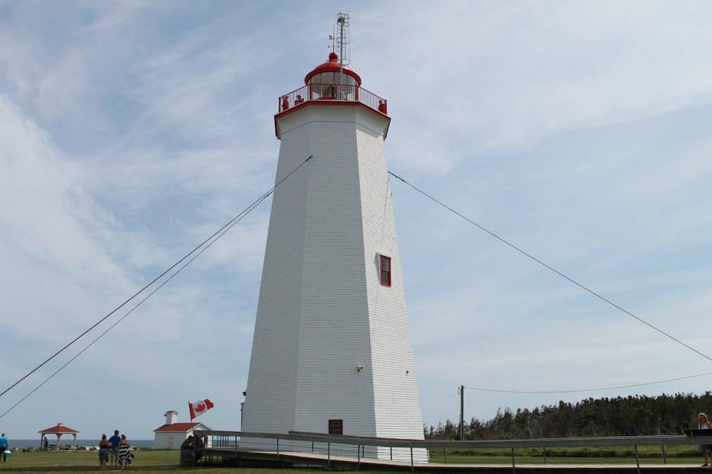 Miscou Lighthouse, New Brunswick on a east coast canada road trip