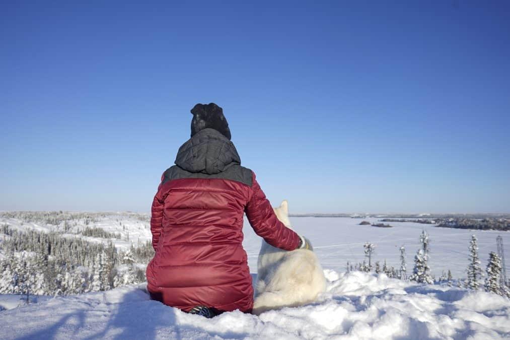 Winter hiking in Yellowknife
