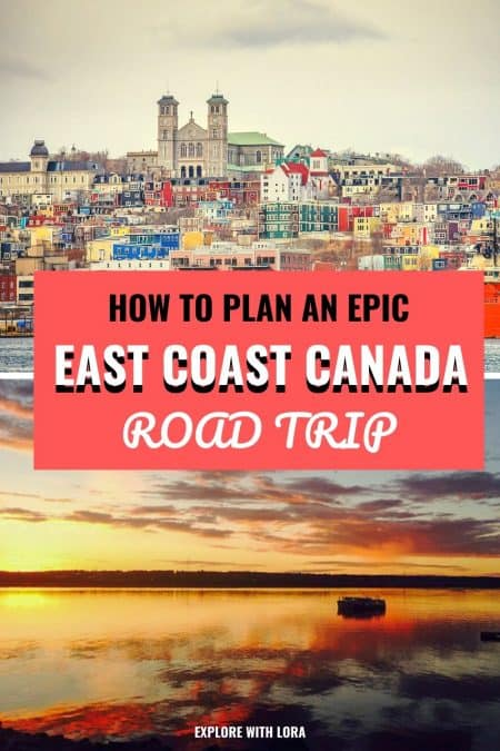 east coast canada road trip pin