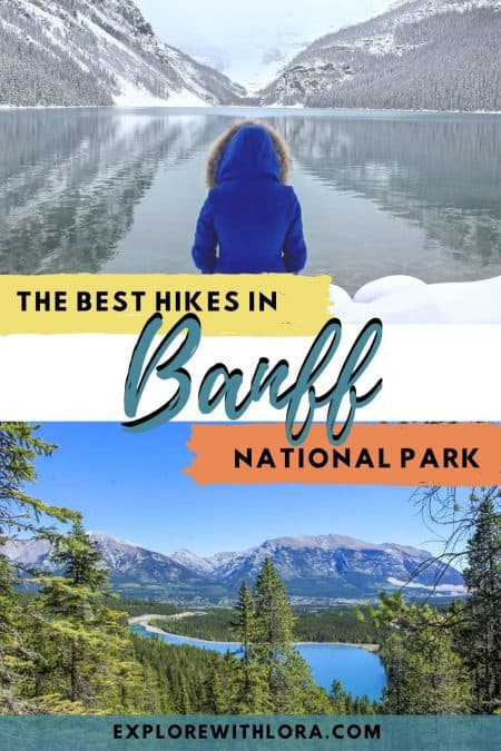 best hikes in banff pin