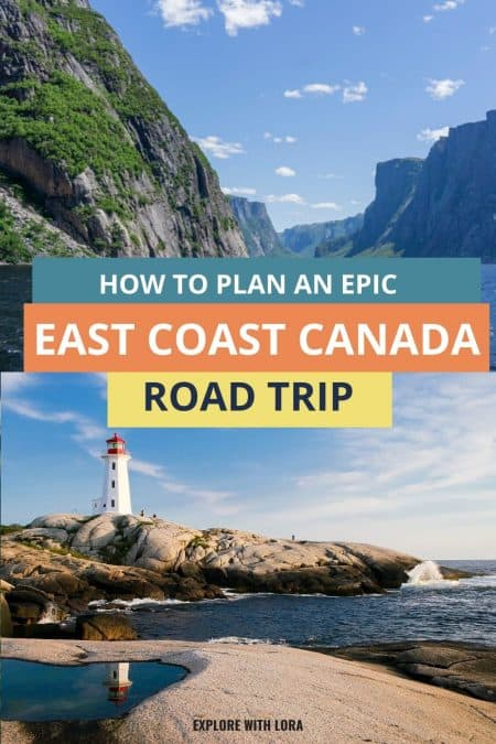 canada east coast road trip pin