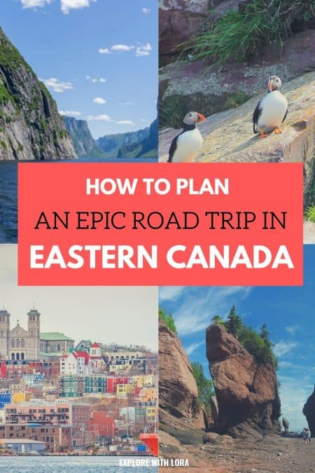 eastern canada road trip pin