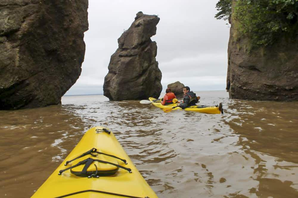 Kayaking at Bay of Fundy
