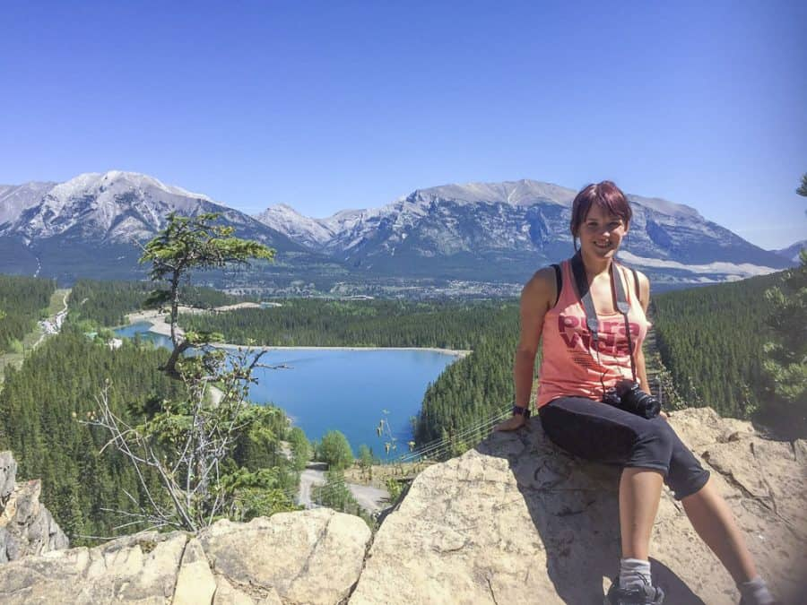grassi lakes trail hiking in banff national park